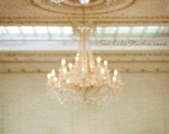 Chandelier II : crystal chandelier photo antique sconce san francisco photography champagne sparkle decor 8x10 11x14 16x20 20x24 24x30