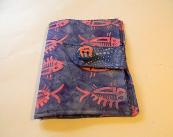 Blue/Purple Fossil Fish Batik Kindle Touch/Nook Simple Touch Cover
