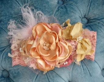 Pink Lemonade Couture Headband