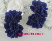 20%off 373-00-183-CA  4pcs Rose Cabochon - Navy Blue