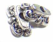 Lead Free Pewter Large Decorative Square Bead Caps    (EKP176)   SRA-D84