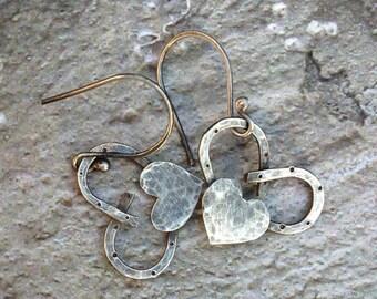Horseshoe Heart Earrings