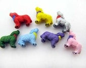 20 Tiny Howling Wolf Beads - mixed
