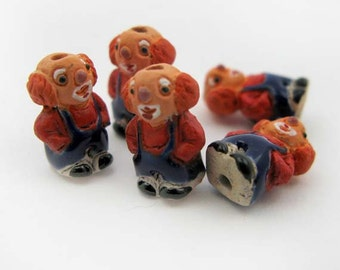 4 Tiny Clown Beads - CB406