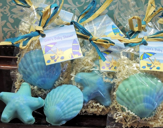 10 Seashell Starfish Soaps Party Favors For Tropical Beach