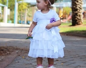 Flower girl party dress in glamour vintage style, size from 2T to 6 y.o.,  photo prop