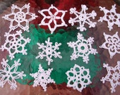 12 Beautiful Crocheted Snowflakes (A8)