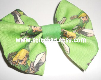 PREORDER Toon Link legend of zelda Fabric hair bow or bow tie
