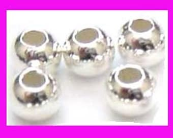100x  3mm Sterling Silver Beads seamless round Spacer 1.2mm hole S89