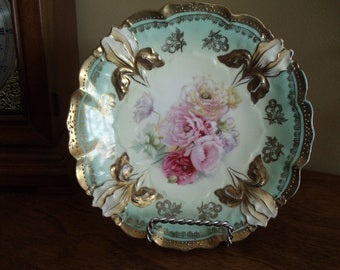 Antique R.S. Prussia Red Mark plate/berry bowl //42