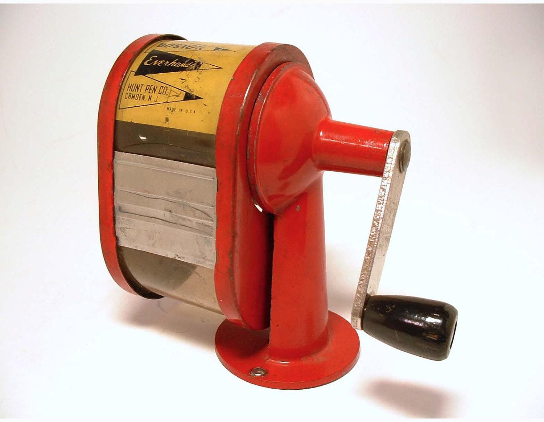 Vintage Red Boston Everhandy Pencil Sharpener