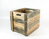 Wood Crate Wooden Box Table Furniture Storage with Two Toned Finish