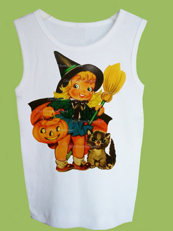 Halloween Witch Cutest Vintage T Shirt Retro Witch Shirt