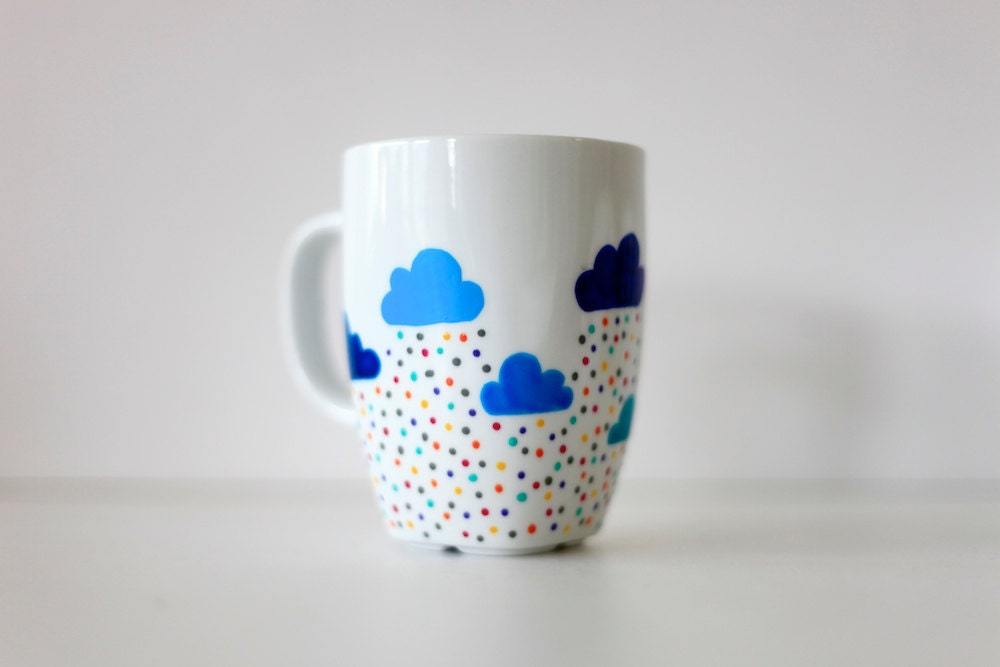 The 365 Custom Hand Painted Mug Clouds And By Funkytiles