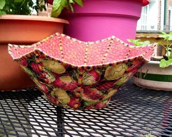 Decorative star shaped  Asian lanterns fabric bowl