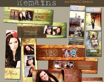 The Memory Remains BookMark COLLECTION- Set of 5 custom double-sided BookMark templates for photographers on WHCC specs