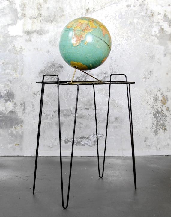 mid-century hairpin table