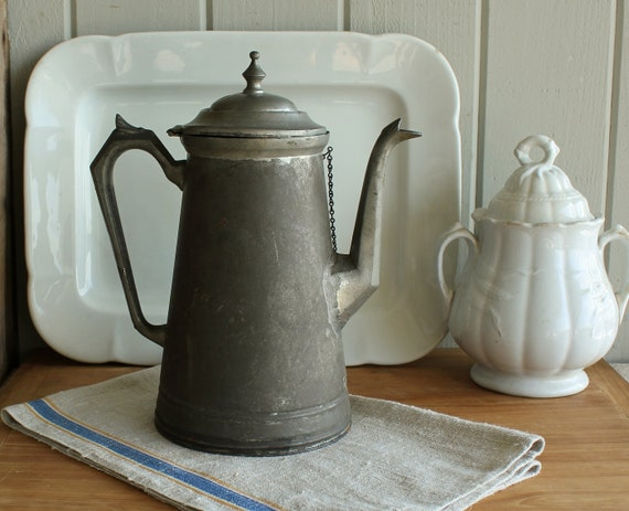 Antique Farmhouse Tin Coffee Pot   Sale was 98.00