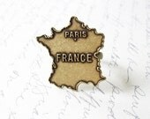 50% OFF SALE France Map Ring Paris City Jewelry French Marie Antoinette Travel World Traveler Wanderlust Accessories Womens Gift For Her