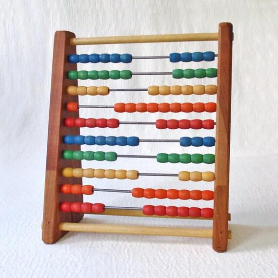 Vintage Wooden Sandberg Abacus