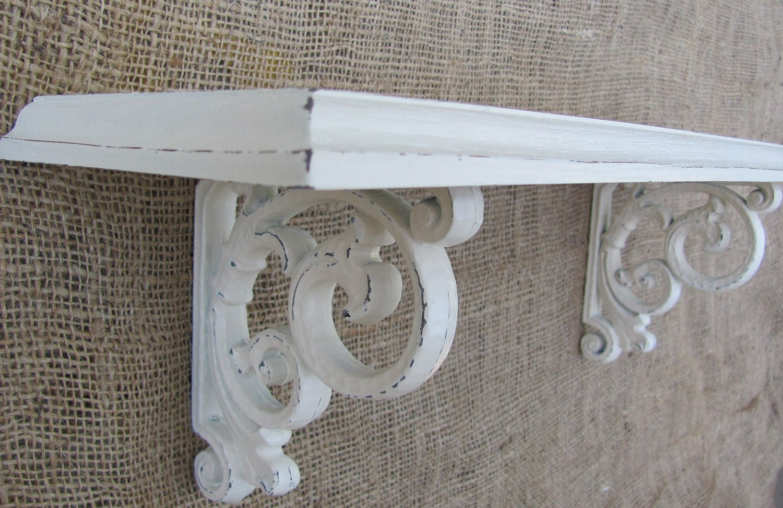 cream shelf shabby chic vintage syroco wall shelf. Black Bedroom Furniture Sets. Home Design Ideas