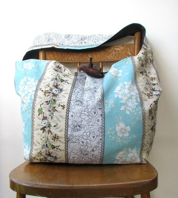 CROSS BODY BAG Hippie Bag Crossbody Hobo Bag Bohemian Bag Large Hobo Bag Hobo Purse Large Cross Body Bag Floral Bag