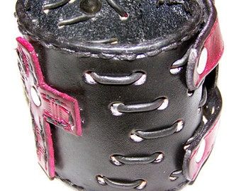 Item 092512 - True Blood Leather Wrist Cuff with Buckles
