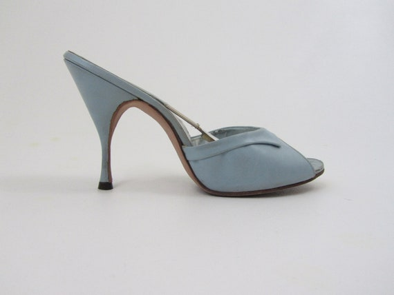 1950s springolator shoes baby blue heels in size 6 5 m