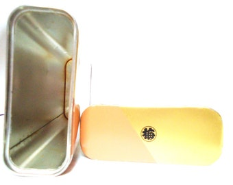 The Japanese Brown Rectangular Tin.70s