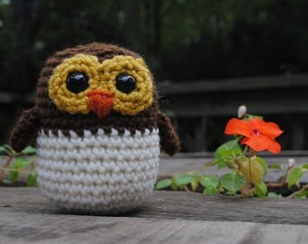 Woolie Baby Owl Hand Crocheted Plush
