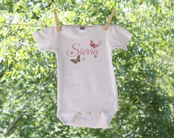 Butterfly with Name Personalization // Infant Bodysuit