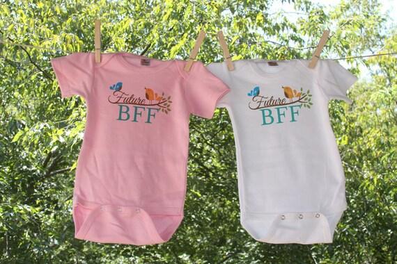 Best Friends or 2 Future BFF - Set of 2 Infant Bodysuit