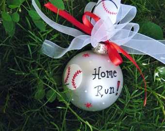 Baseball Ornament for Birthday or Award or Christmas - Personalized Sports Fan Ornament, Opening Day, Baseball Party, Sports Party