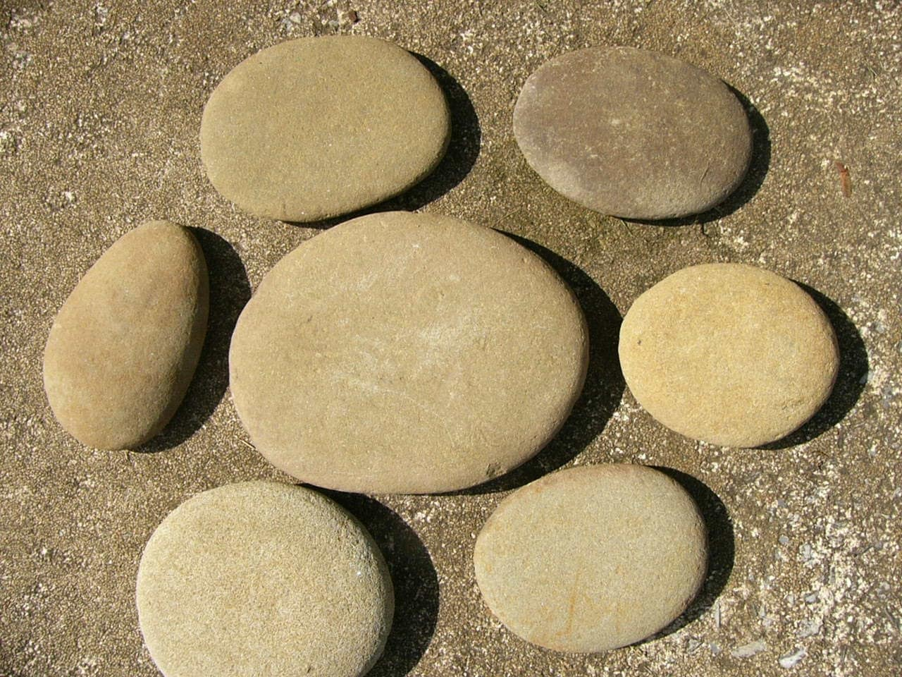 Flat Rock Stone : Big river rocks large all natural round flat stones lot