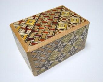 Japanese Puzzle box (Himitsu bako) 2.9inch (73mm) 10steps Yosegi