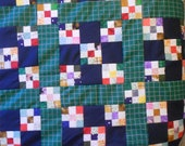 Basically FREE - Double/Full Unfinished Quilt Top - Double Nine Patch