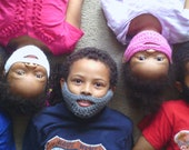 Fear the Beard -- Kids Crochet Mask Costume -- Made to Order