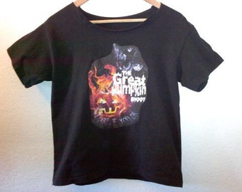 Pumpkin Shoot TShirt /Graphic Tee/70s/ 80s /90s/ Grunge / Indie /Macabre/ Spooky / Horror / Goth / Dead Girl / Zombie Girl / Rare Tee