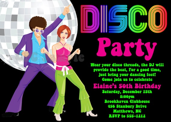 Disco Party Invitation Wording as good invitations layout