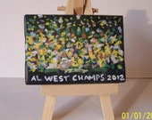 """ACEO miniature canvas painting titled """" Athletics 2012 """""""