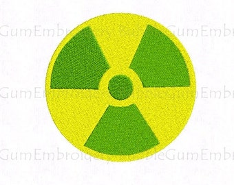 Radiation Symbol Embroidery Design Instant Download