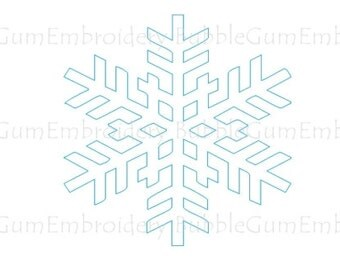Bluework Winter Snowflakes Embroidery Designs Instant Download