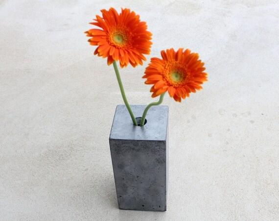 Block Concrete Vase