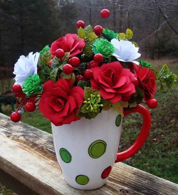 Paper Flower Arrangement Ideas: Valentines Day Paper Flower Beautiful Arrangement In Large
