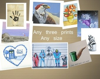 Any Three Prints, Sale Package, any size combo