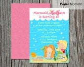 Mermaid Birthday Invitation Mermaid Splash