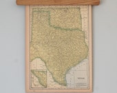 Vintage 1940s State Maps of South Dakota, Texas and Oklahoma