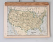 1940s Antique Maps of the United States and Alabama