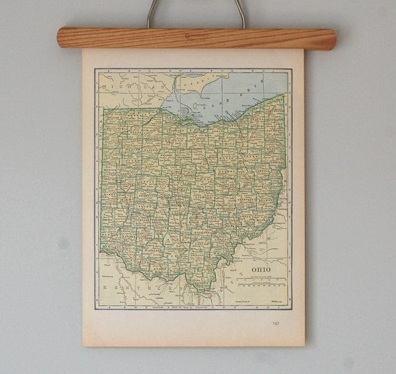 Antique Topographic Maps of Ohio and Oklahoma