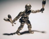 Bronze Soldier Army Man Juggling